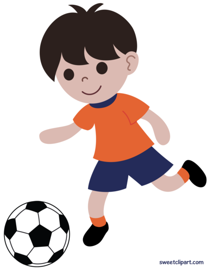 Boy Playing Soccer Clip Art