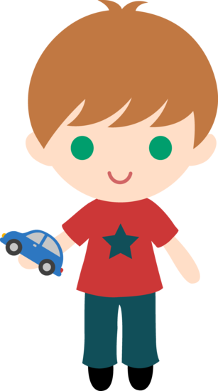 Boy With Toy Car Clip Art