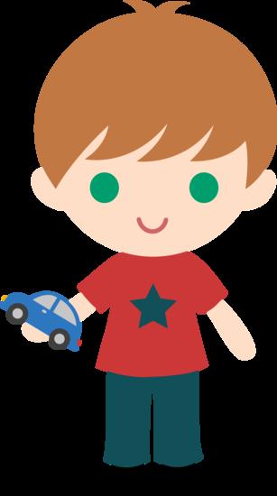 Boy With Toy Car Clip Art