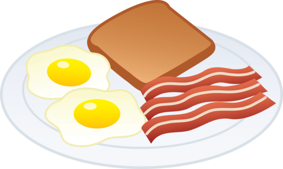 Bacon and Eggs With Toast