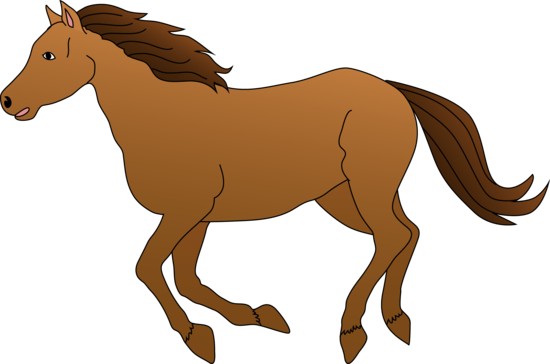 Brown Horse Galloping Clipart