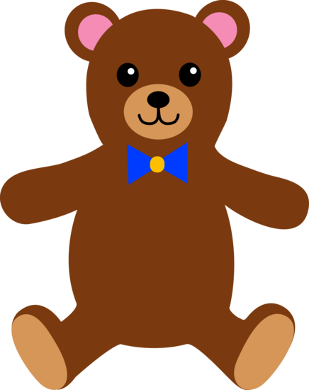Brown Teddy Bear With Bow Tie