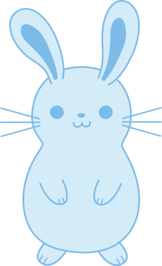Cute Blue Bunny Rabbit