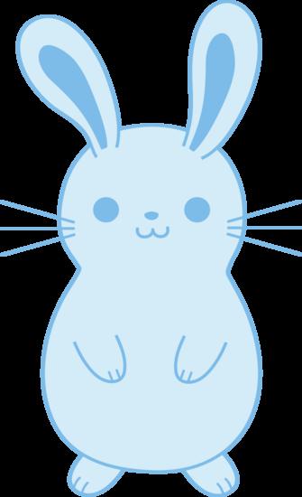 Cute Blue Bunny Rabbit