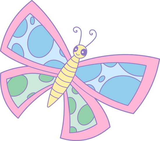 Cute Spotted Pastel Butterfly