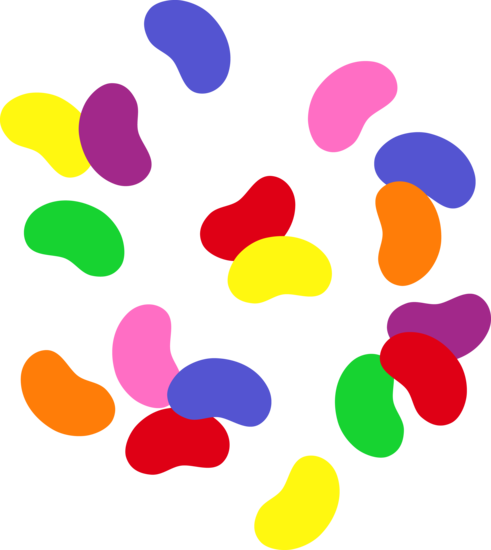Colorful Scattered Jelly Bean Candies