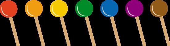 Seven Sugary Lollipops