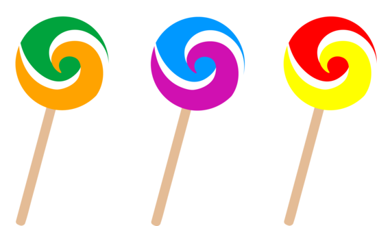 Set of Three Swirl Lollipops