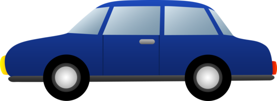 Blue Sedan Clip Art
