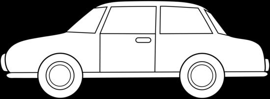 Colorable Car Line Art - Free Clip Art