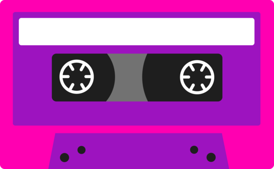 Pink and Purple Cassette Tape