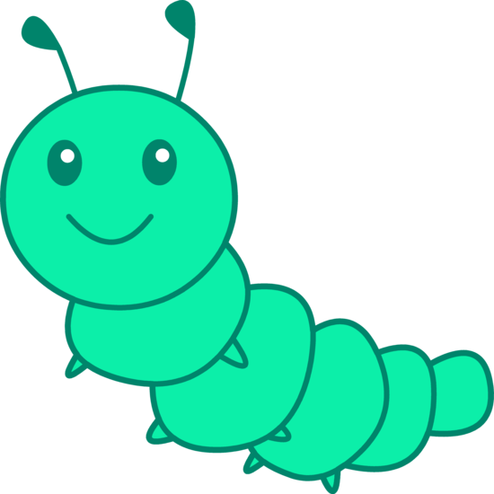 Cute Green Caterpillar Clip Art