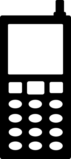 Black and White Cell Phone