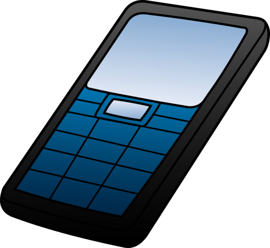 Blue and Black Cell Phone Design