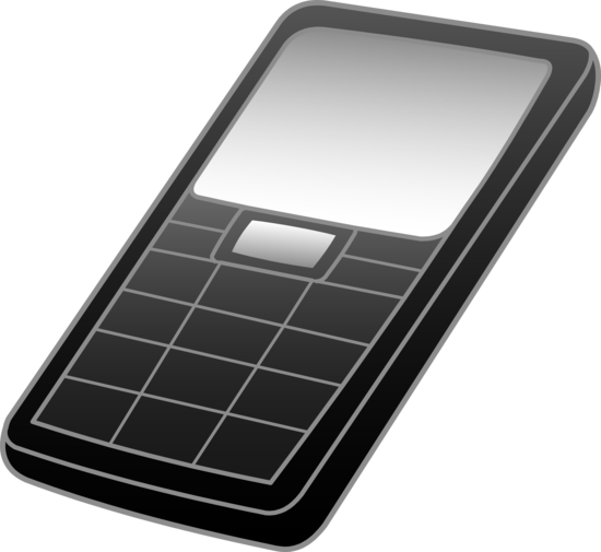 Black and Grey Cell Phone Design