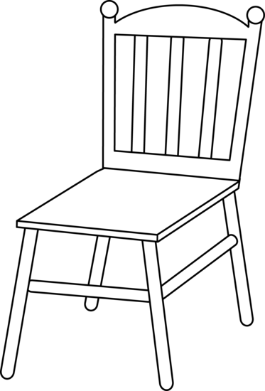 Line Drawing Chair : Chair line art free clip
