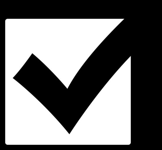 Black Check Mark in Box - Free Clip Art
