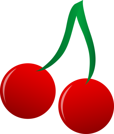 Red Cherries Vector Clip Art