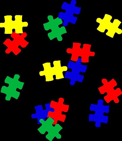Puzzle Pieces on Transparent Background