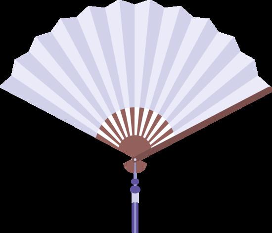 Light Blue Chinese Fan