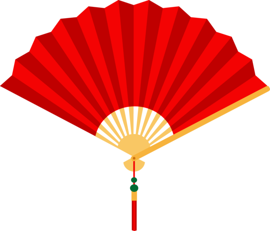 Red Chinese Hand Fan