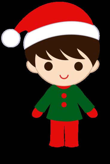Little Christmas Boy Clip Art