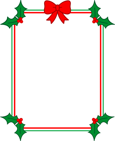 Red and Green Christmas Frame