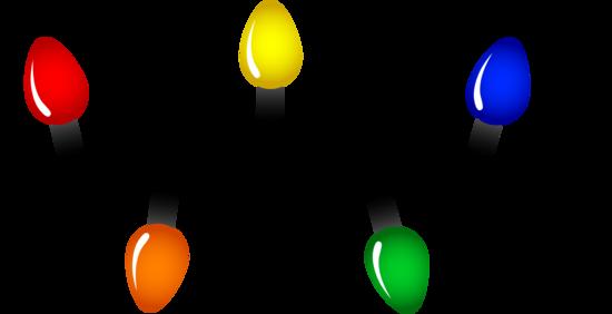 Christmas lights string. Of free clip art