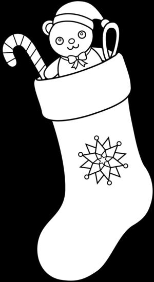 Christmas Stocking Line Drawing.Christmas Stocking Line Art Free Clip Art