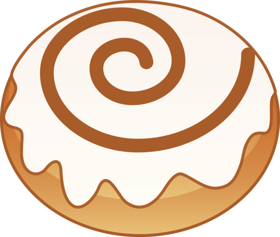 Sweet Cinnamon Roll - Free Clip Art