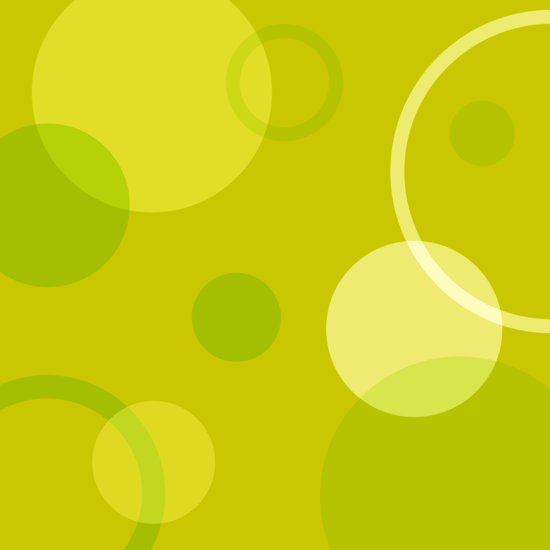 Yellow Green Circles Pattern