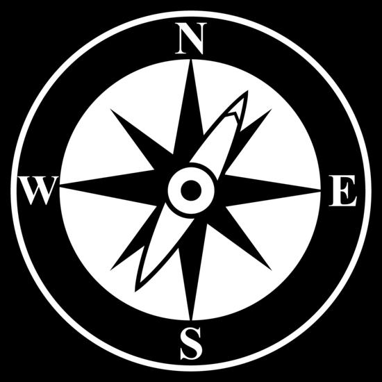 Black Compass Silhouette