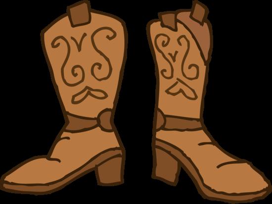 Brown Cowboy Boots Clipart