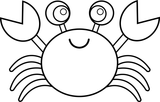 Colorable Cute Crab