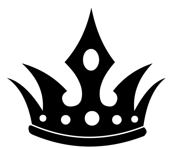Pointed Black Crown Silhouette