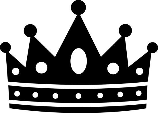 Black Royal Crown Silhouette