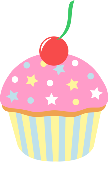 Pink Sprinkled Cupcake With Cherry