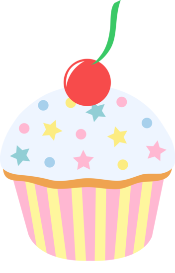 free cartoon clip art cup cakes