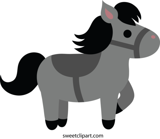 Little Gray Pony Clipart