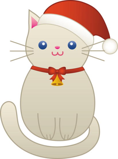christmas kitty cat free clip art rh sweetclipart com cute christmas cat clipart christmas cat clipart free
