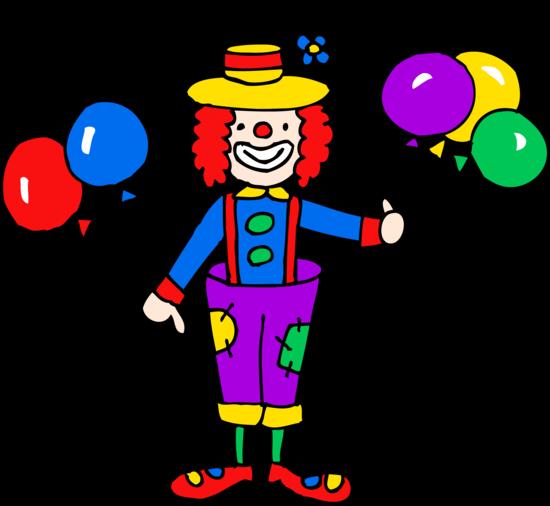 Cute Colorful Clown Clipart