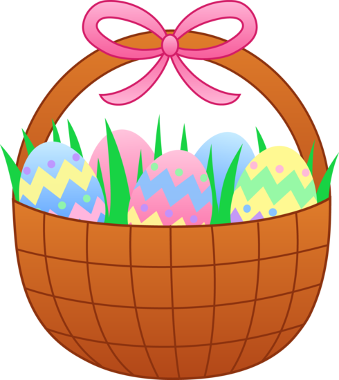 Cute Easter Basket With Eggs