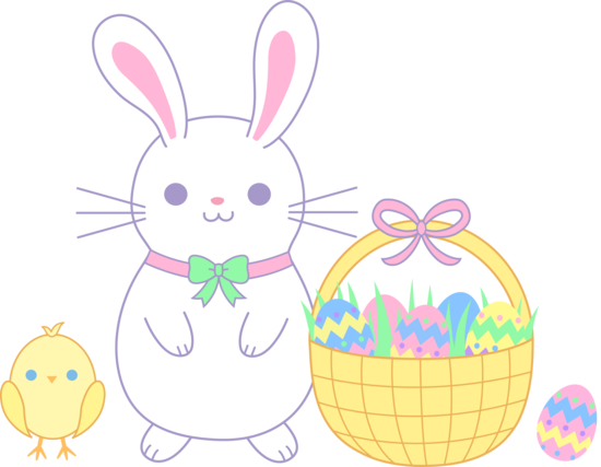 Cute Easter Bunny and Chick