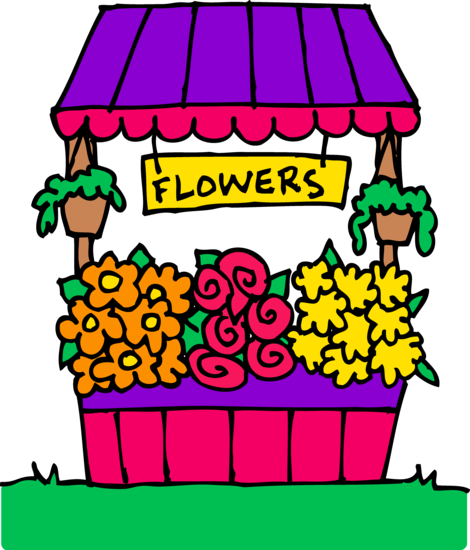 Cute Flower Stand Clipart