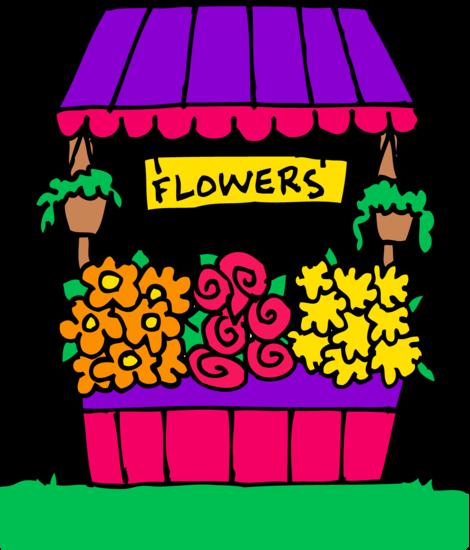 Cute Flower Stand Clipart