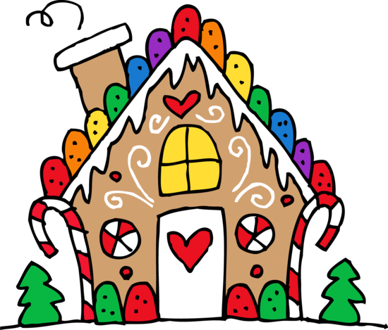 Cute Gingerbread House Clip Art