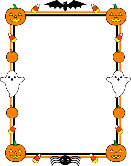 Cute Halloween Border Design