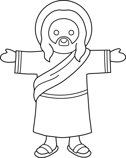 Cute Jesus Coloring Page
