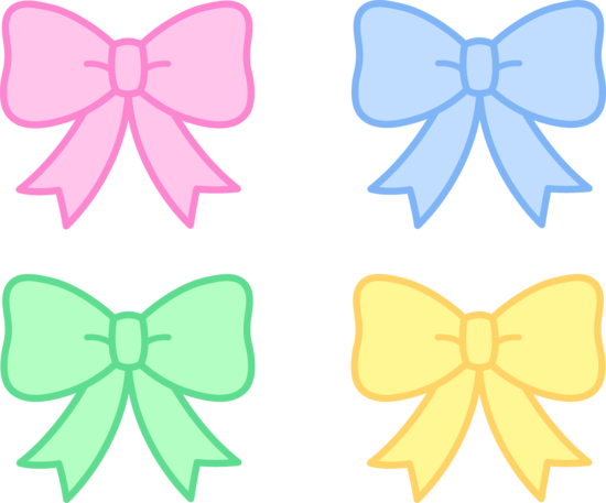 Cute Pastel Bows Clipart