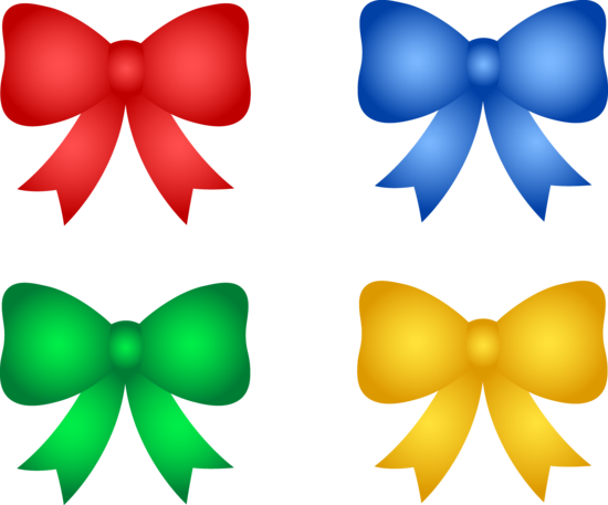 Set of Christmas or Birthday Bows